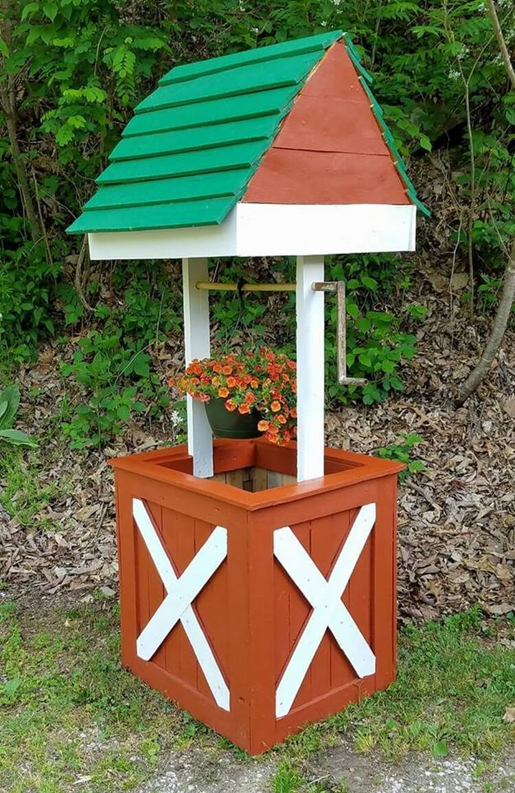Wooden Pallet Wishing Well