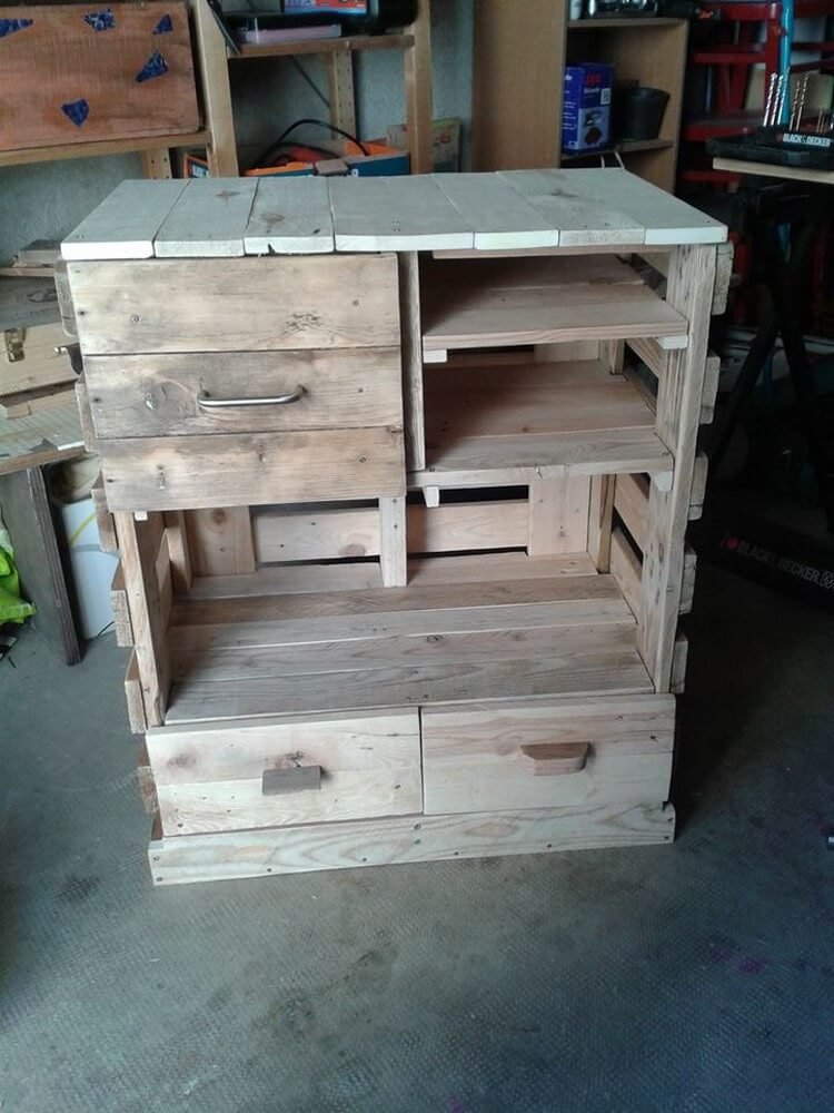 Wooden Pallets Cabinet
