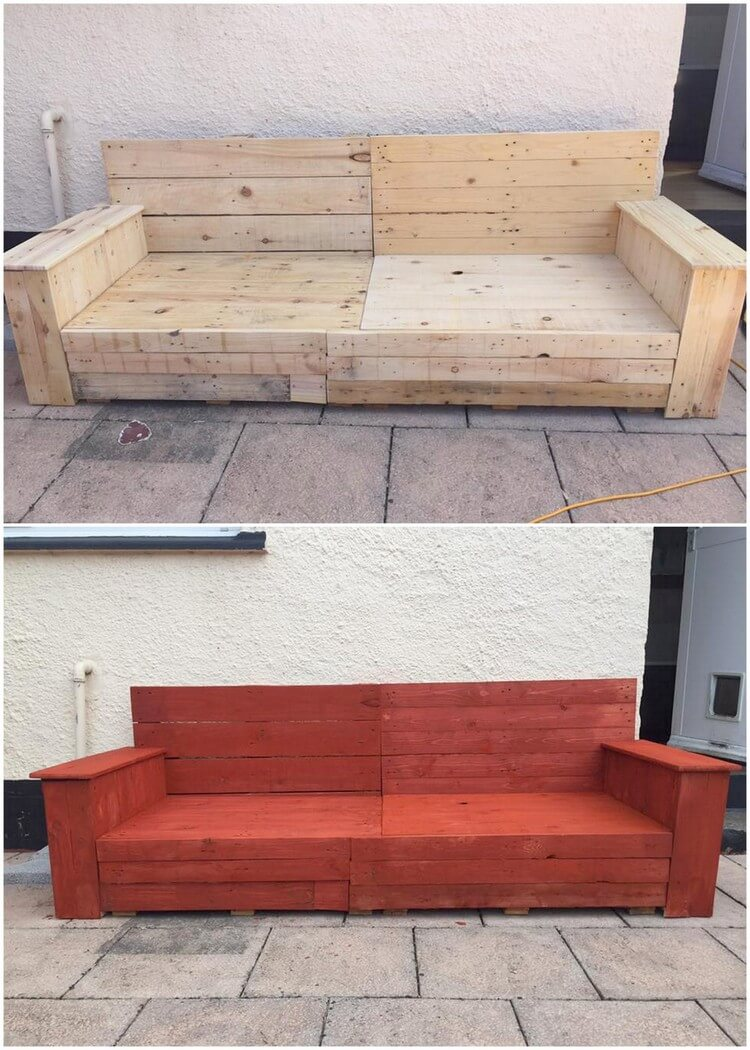 Big Wood Pallet Couch