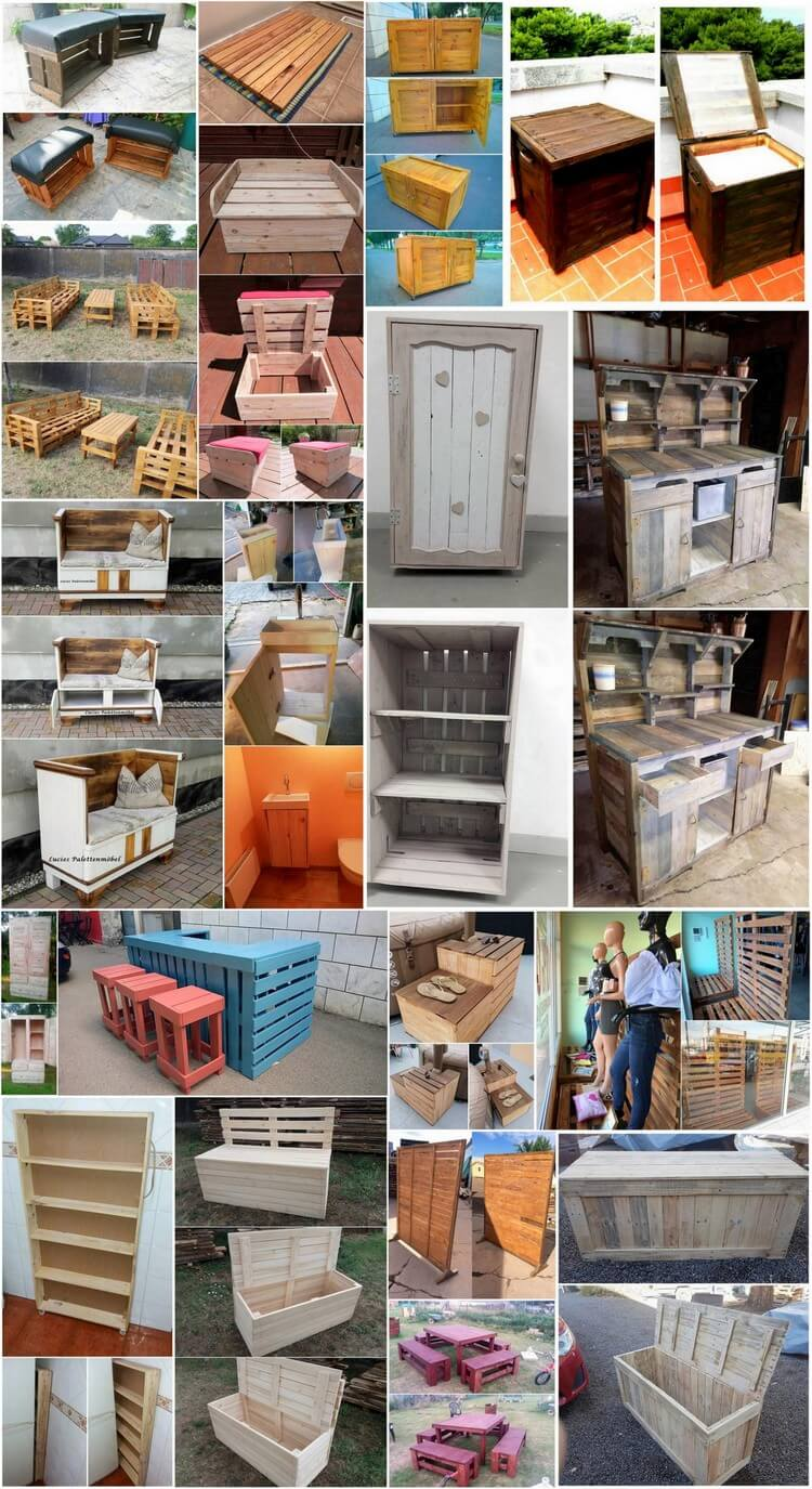 Cheapest DIY Ideas with Old Shipping Wood Pallets