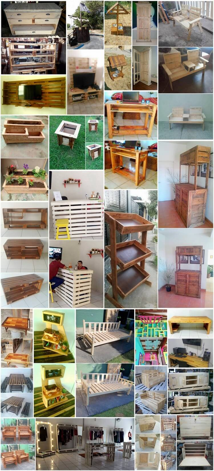 Creative Ways of Turning Old Pallets into Unique Furnishings
