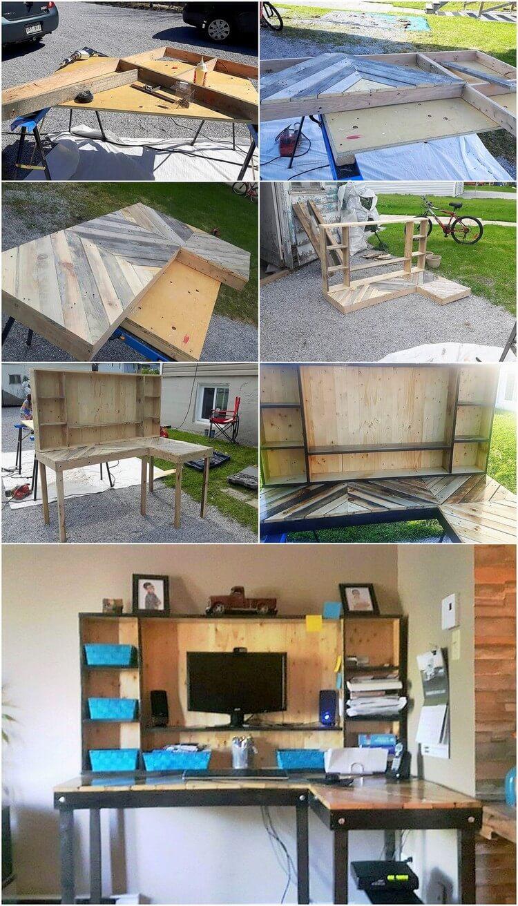 DIY Wood Pallet Computer Furniture Plan