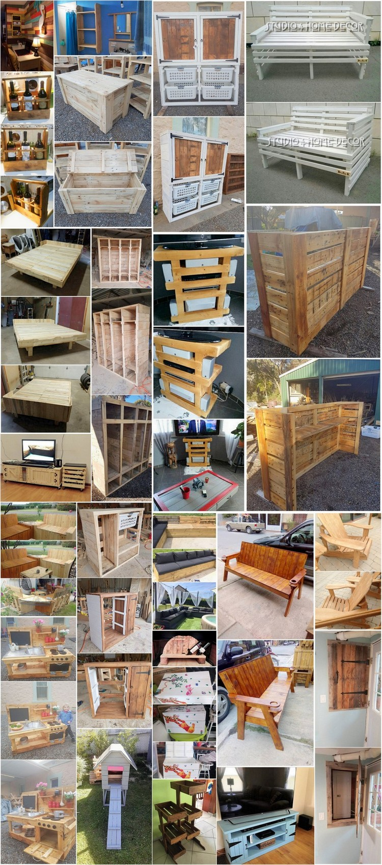 Genius ideas for reusing old wooden pallets pallet wood for Old wood pallets ideas
