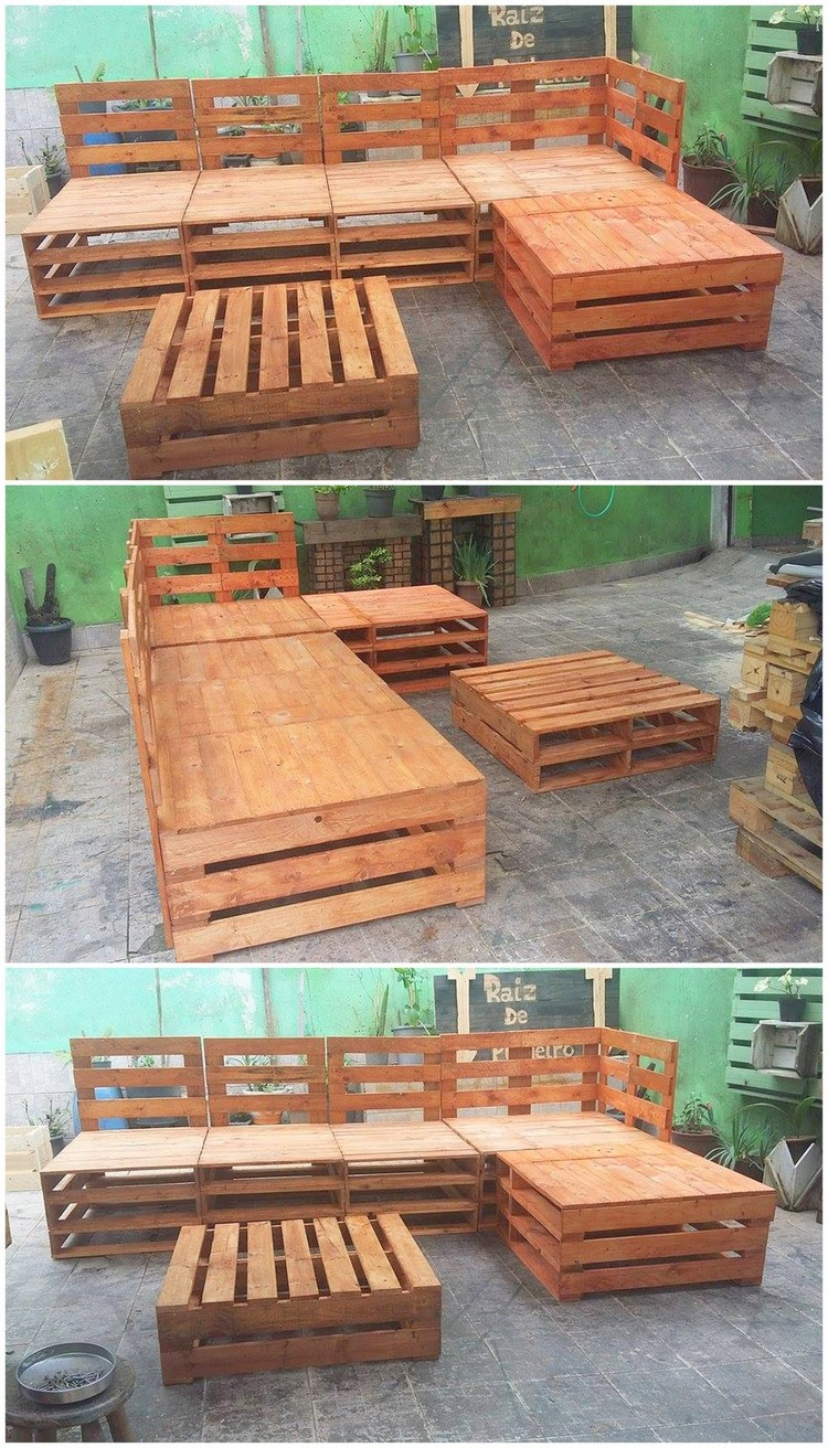 Giant Size Pallet Couch and Table
