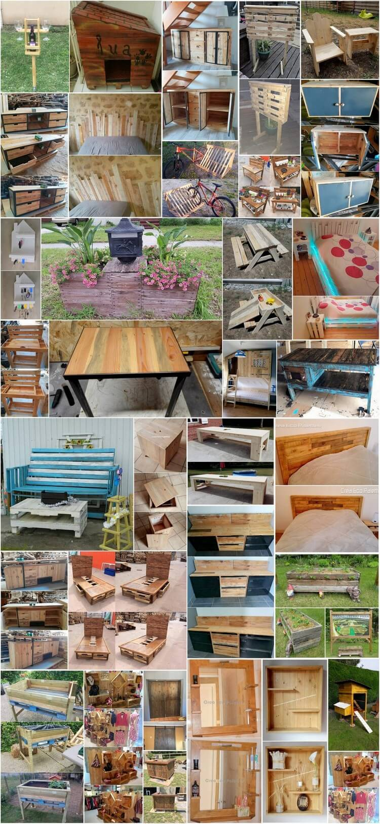 Inspired DIY Ideas with Used Shipping Pallets
