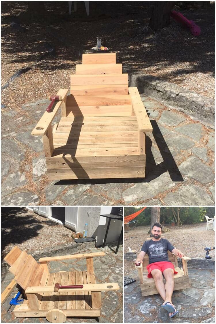 Pallet Chair with Wheels