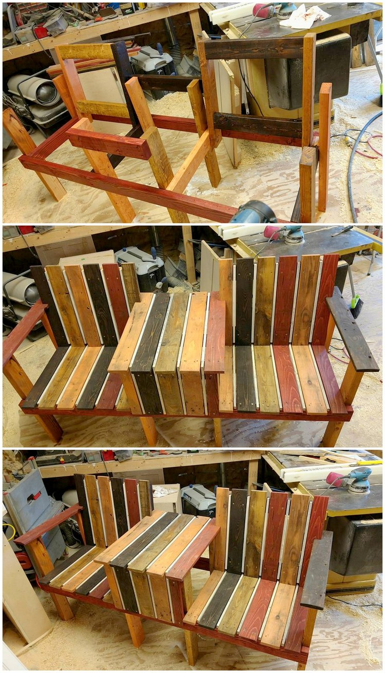 Pallet Chairs Bench