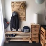 Pallet Coat Hanging and Shoe Rack