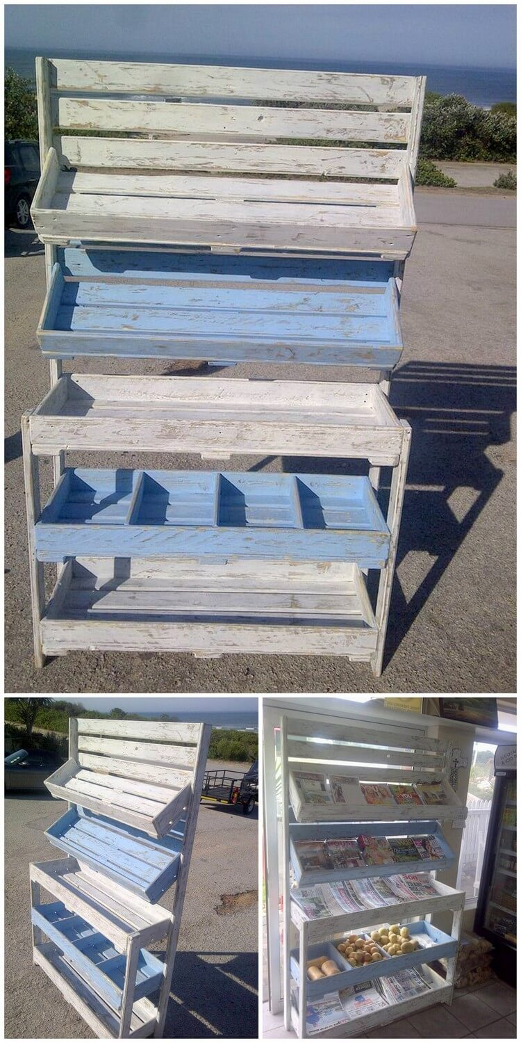 Pallet Fruits Rack