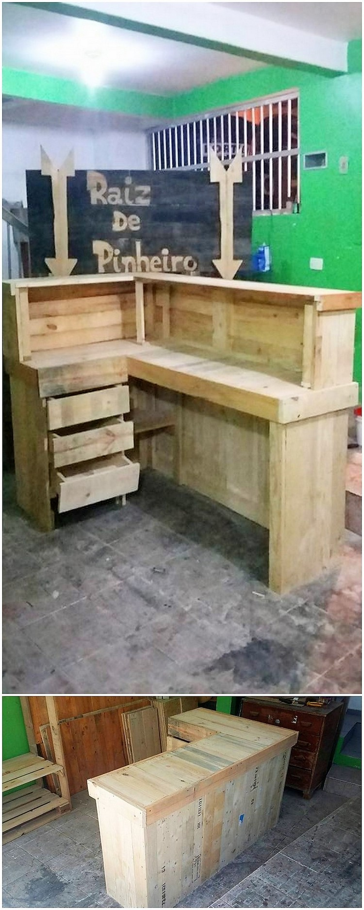 Pallet Office Desk Counter Table