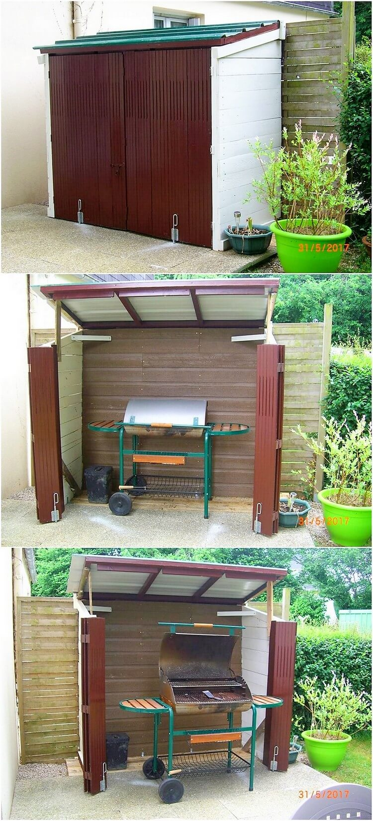 Pallet Outdoor BBQ Shed