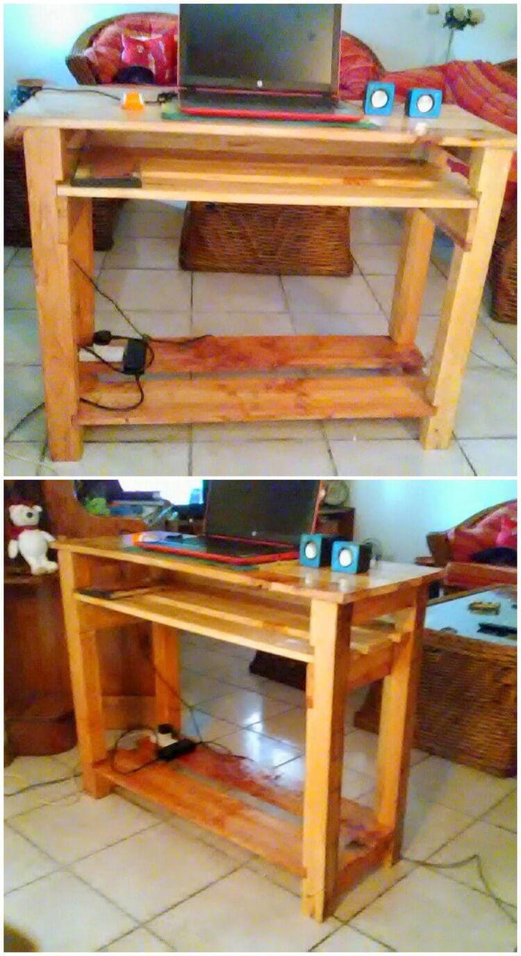 Pallet PC or Laptop Table