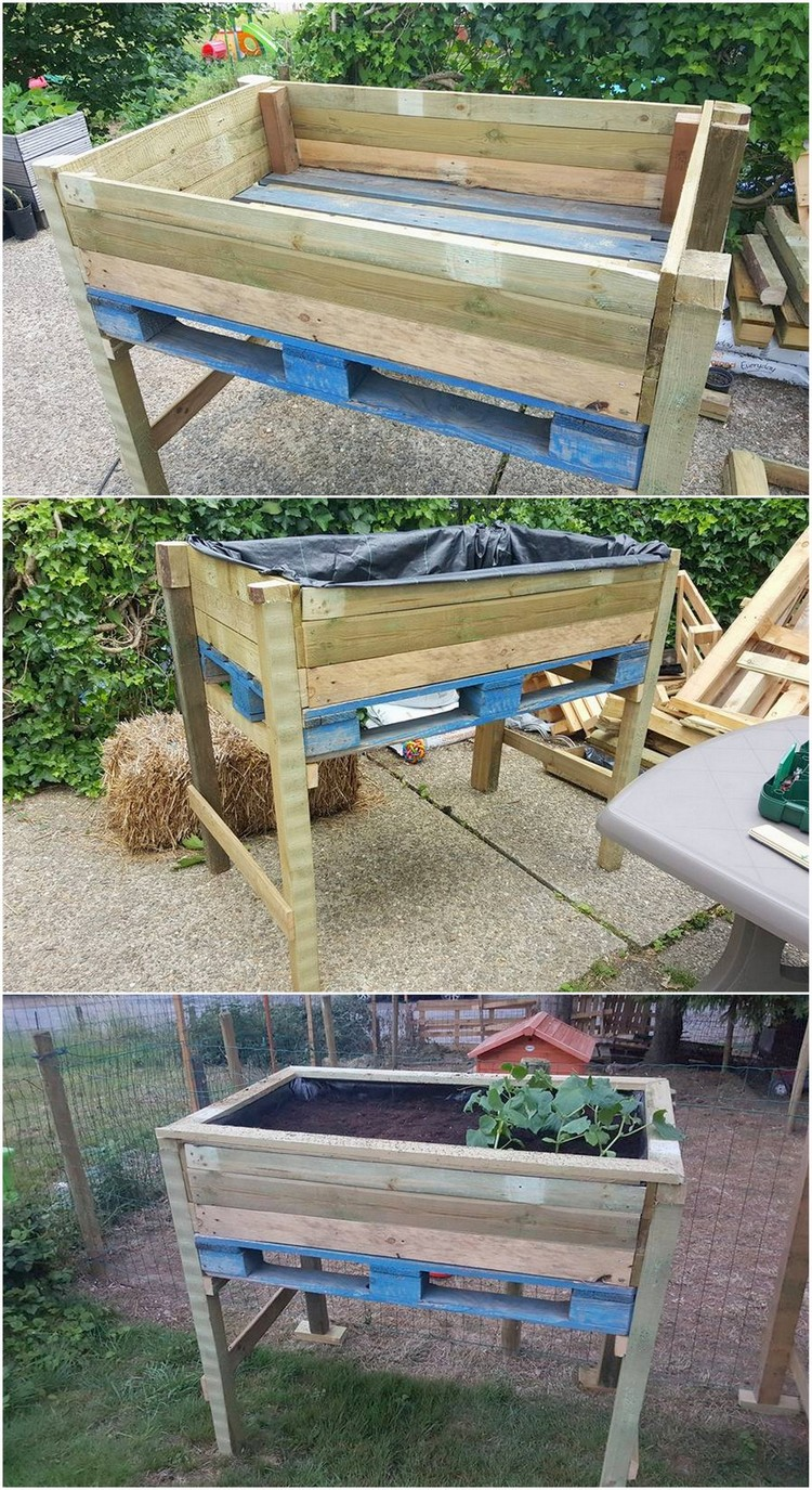 Pallet Raised Garden Box