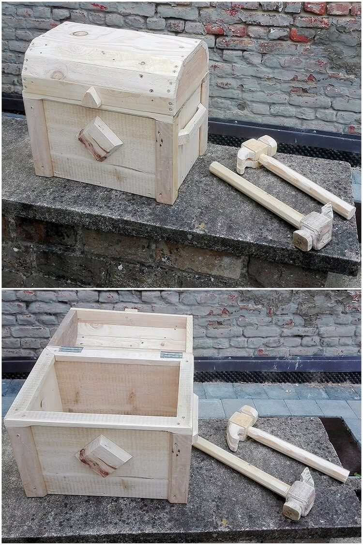 Pallet Storage Box and Tools
