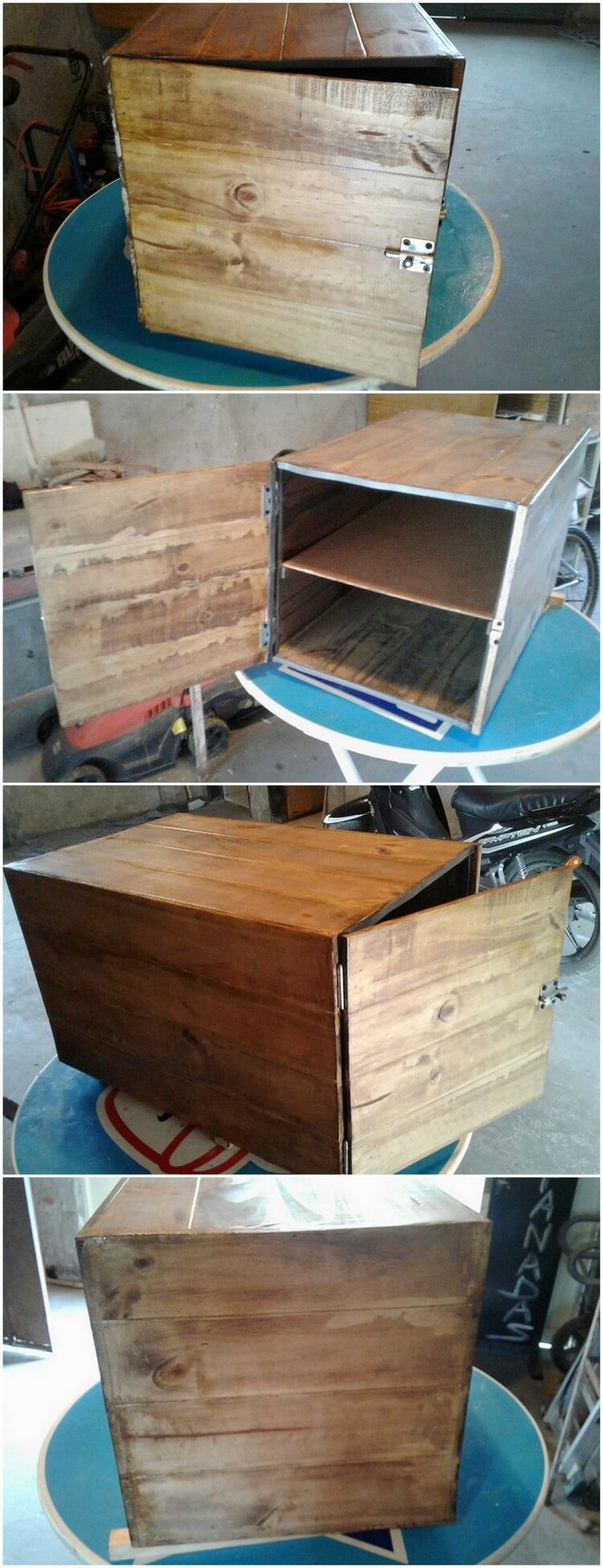 30 awesome diy ideas for reusing old shipping pallets for Pallet wood storage box