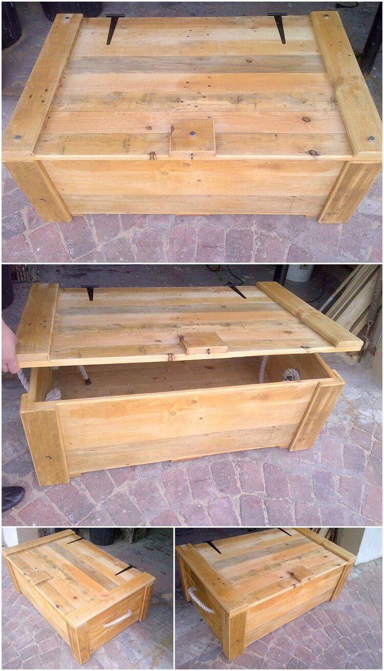 Creative diy ideas to reused wood pallets pallet wood for Pallet wood storage box