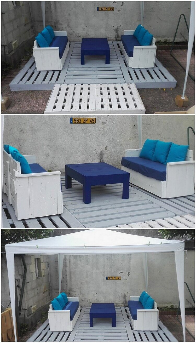 Pallet Terrace with Couches