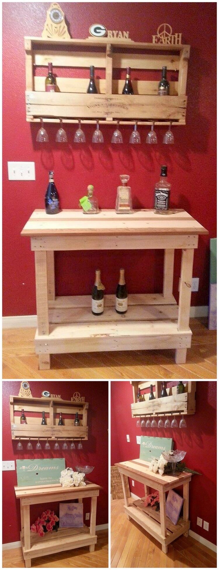Pallet Wine Rack and Table