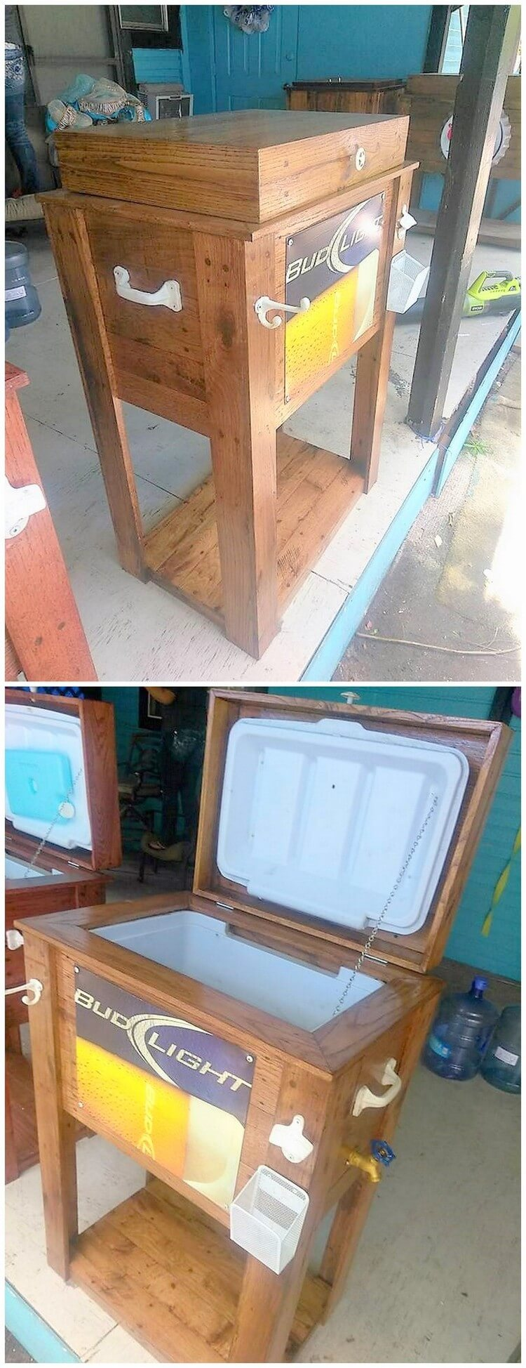 Recycled Pallet Cooler Idea
