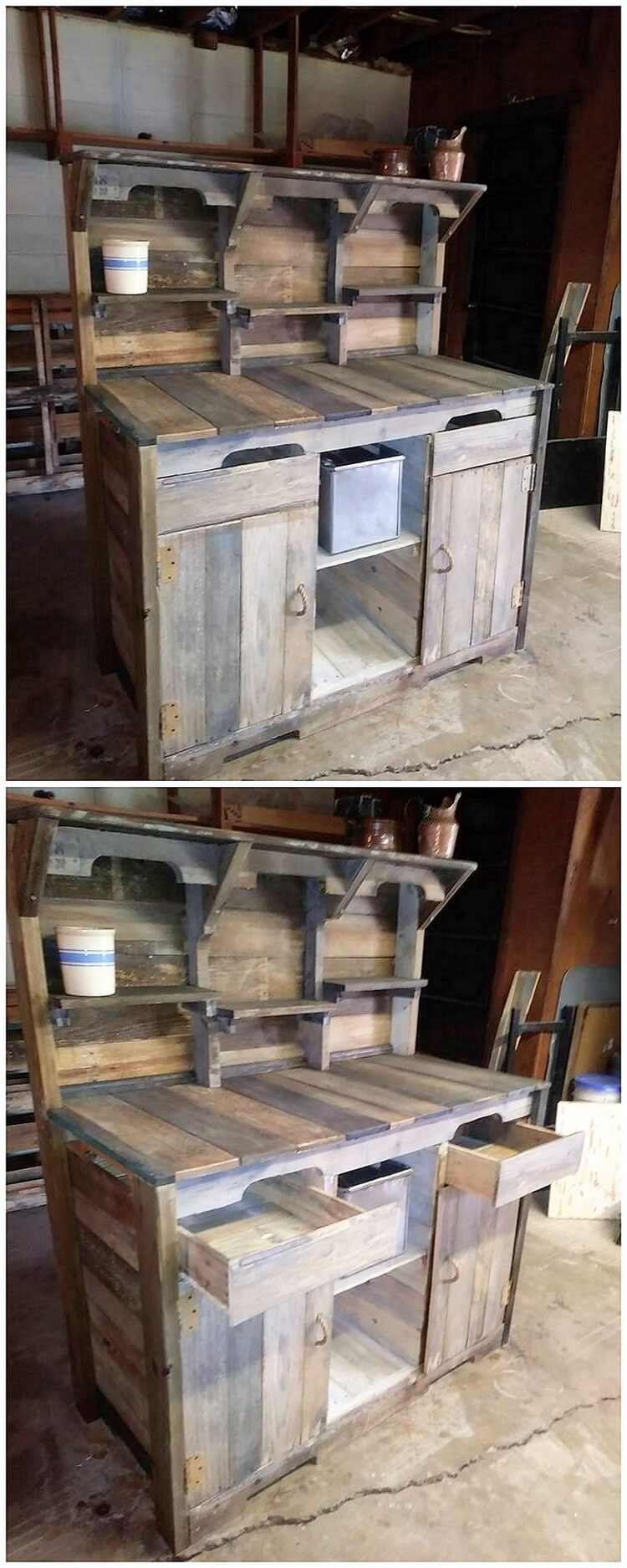Recycled Pallet Cupboard