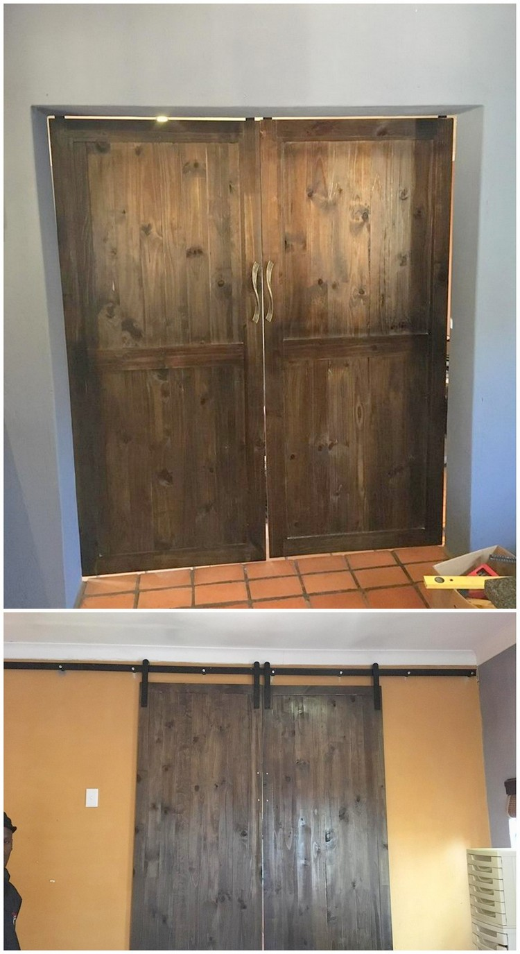 Rustic Wood Pallet Door