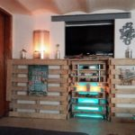 Unique Wood Pallet TV Stand and Wall Decor