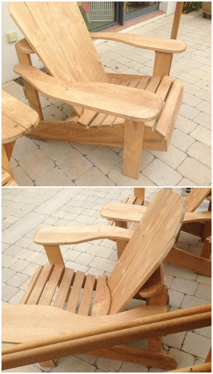 Unfinished Pallet Adirondack Chairs For Garden 101 Pallets Pallet ...