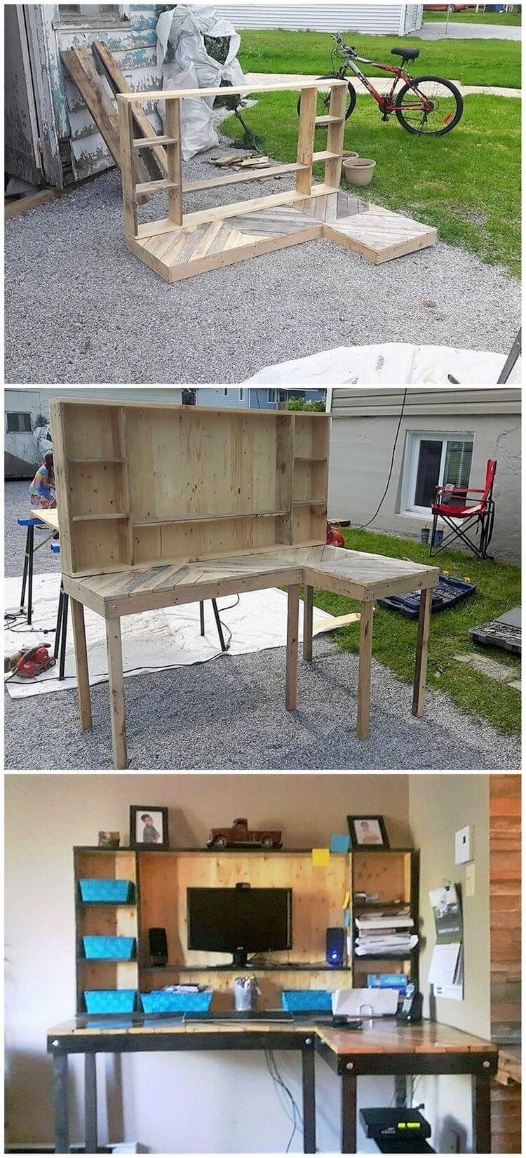 Wood Pallet Computer Furniture