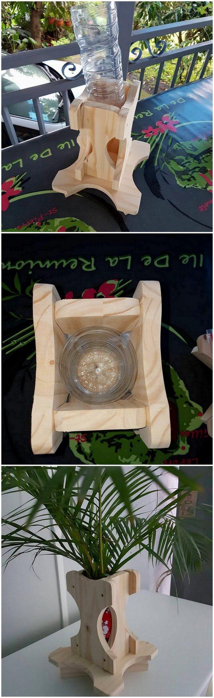 Wood Pallet Flowers Vase