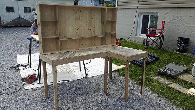 Wooden Pallet Computer Furniture