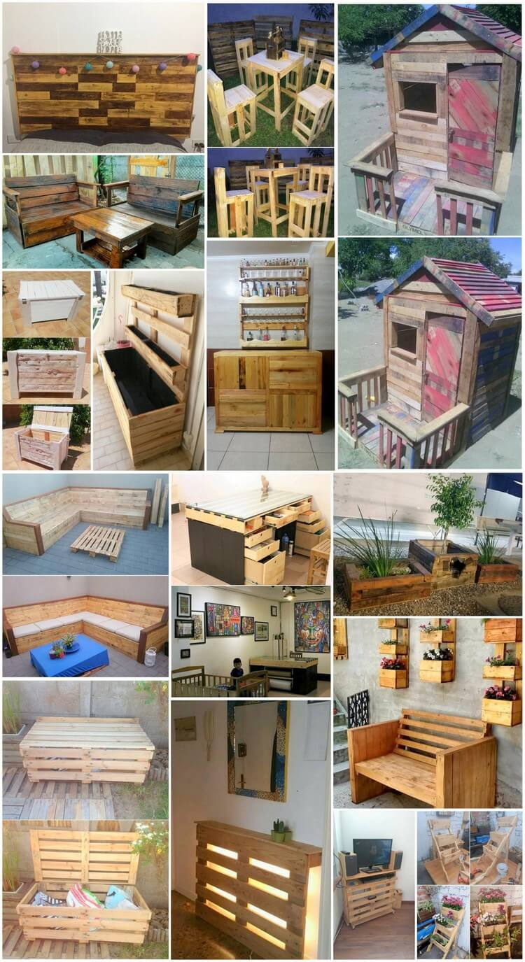 Creative Repurposing Ideas with Used Wood Pallets