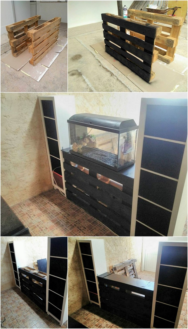 Awesome shipping pallet projects you ought to try this for Pallet aquarium stand