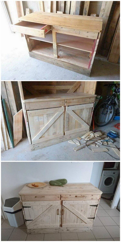 DIY Pallet Cabinet