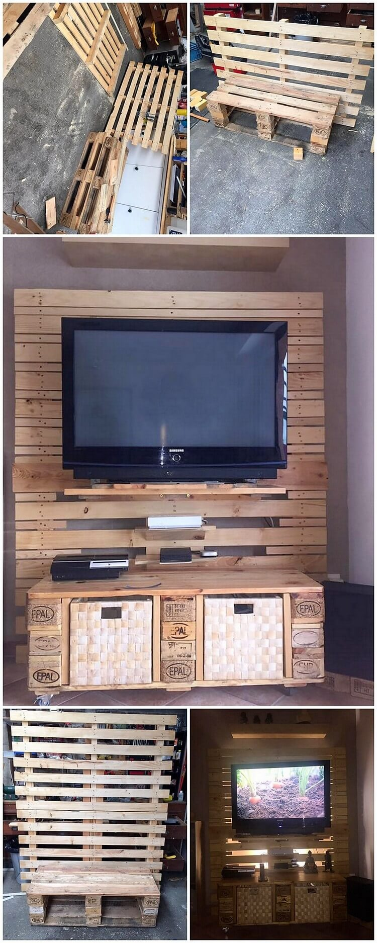 DIY Pallet Entertainment Center Step by Step Plan