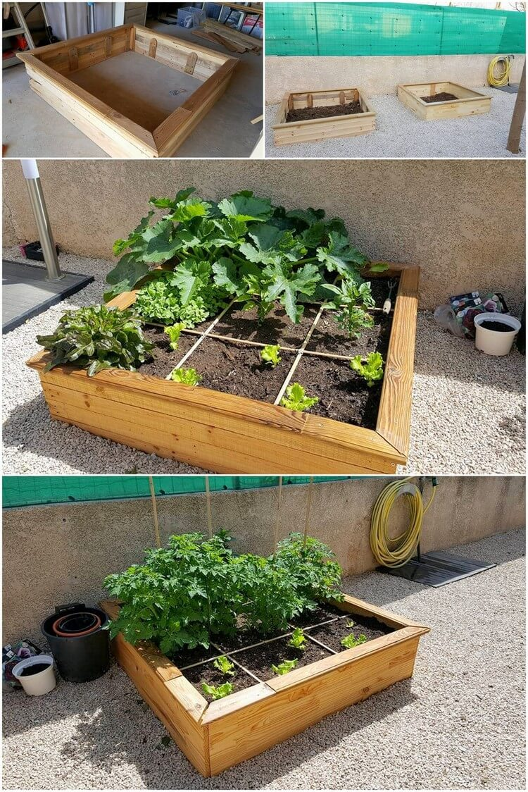 DIY Pallet Herb Planter Box (2)