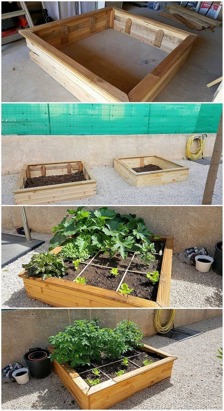 DIY Pallet Herb Planter Box