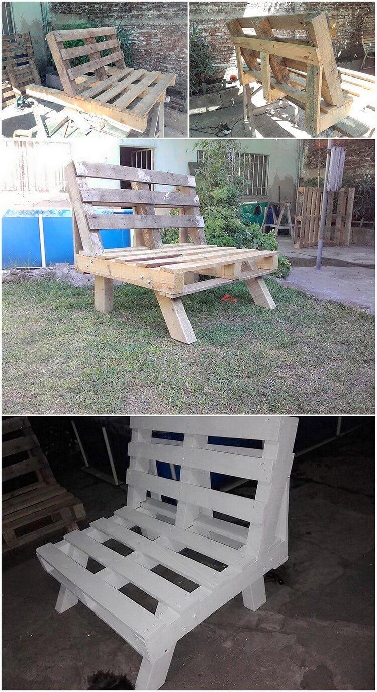 DIY Pallet Seat