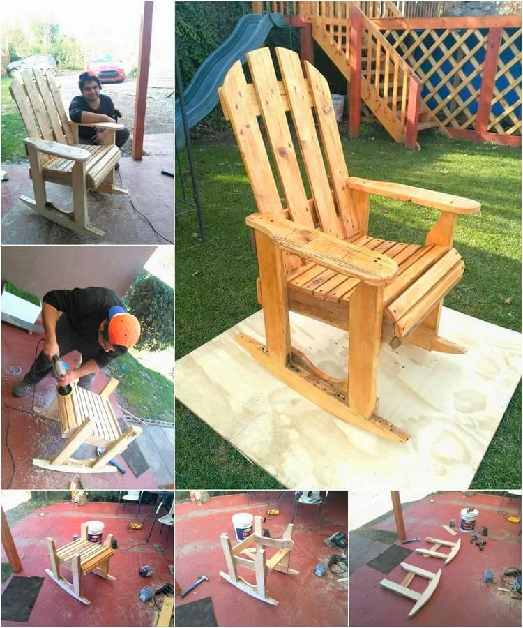 DIY Wood Pallet Rocking Chair Plan