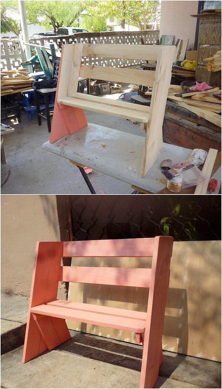 Mini Pallet Bench