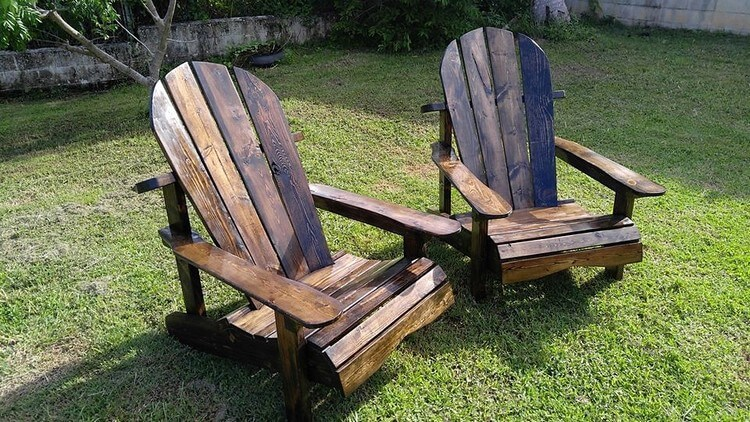 Pallet Adirondack Patio Furniture