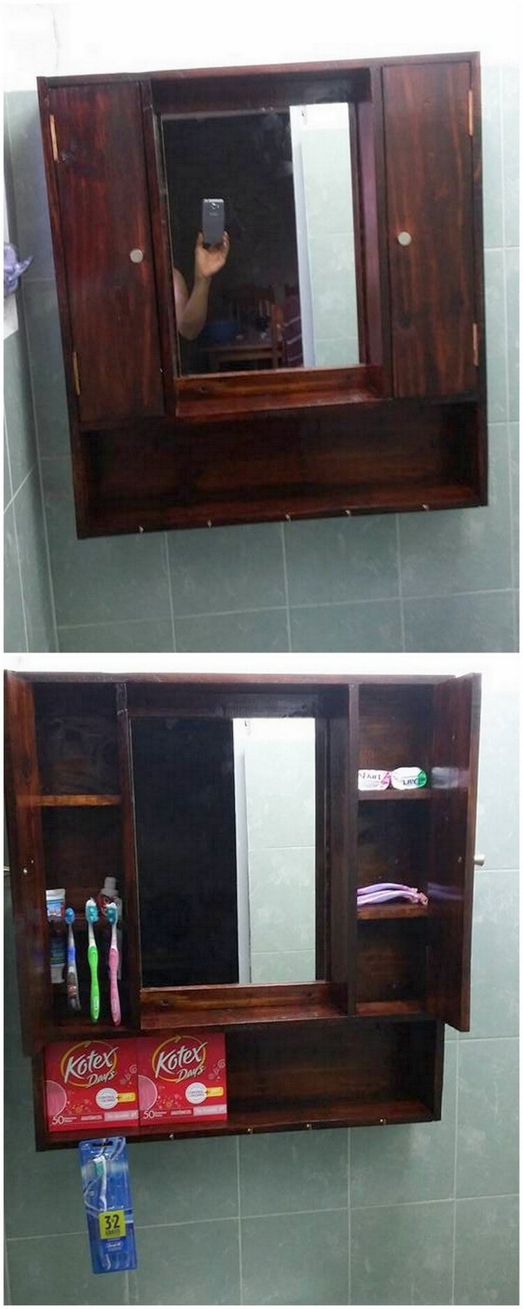 Pallet Bathroom Cupboard