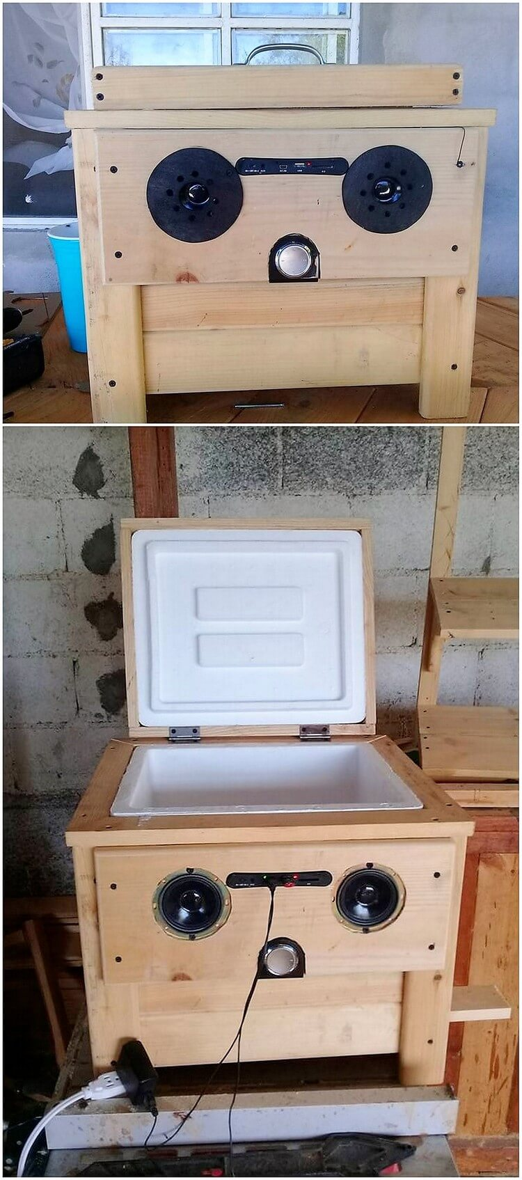 Pallet Cooler with MP3 Player