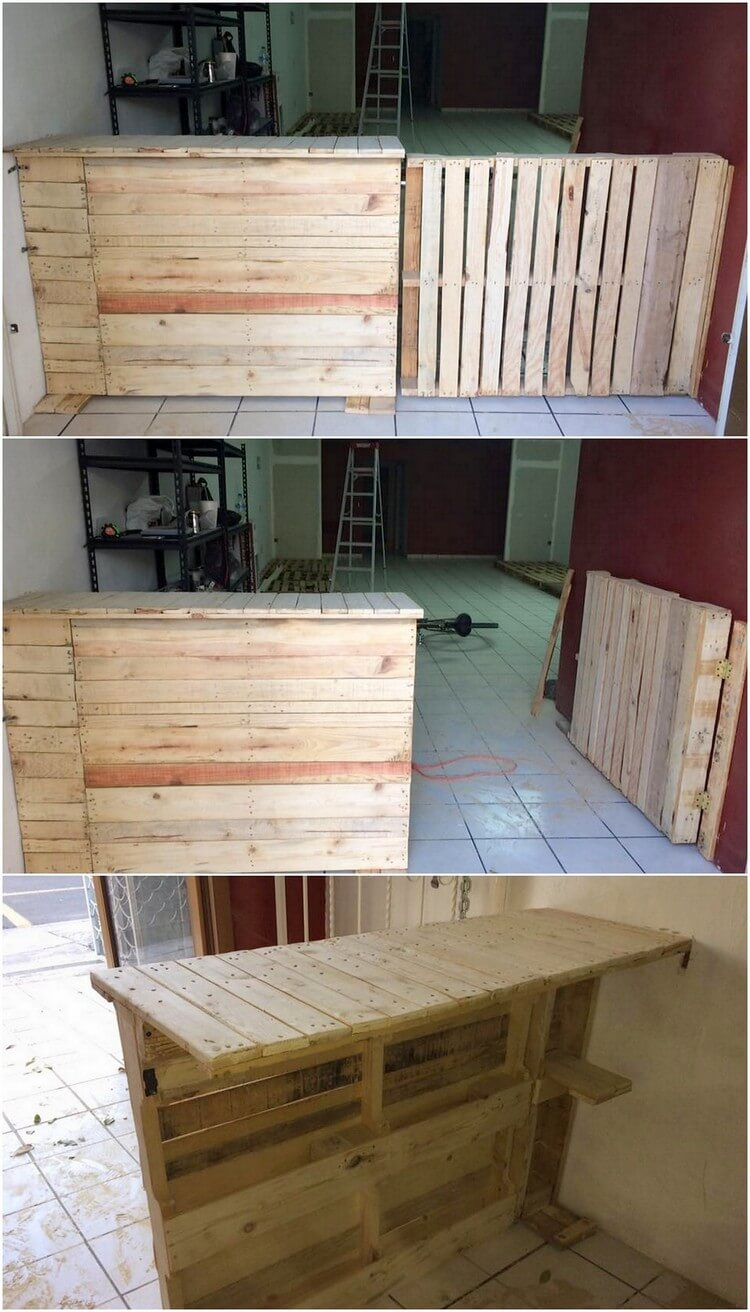Pallet Counter Table and Door