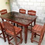 Pallet Dining Table and Chairs Furniture Set