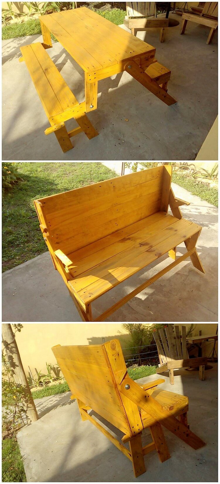 Pallet Folding Bench and Table