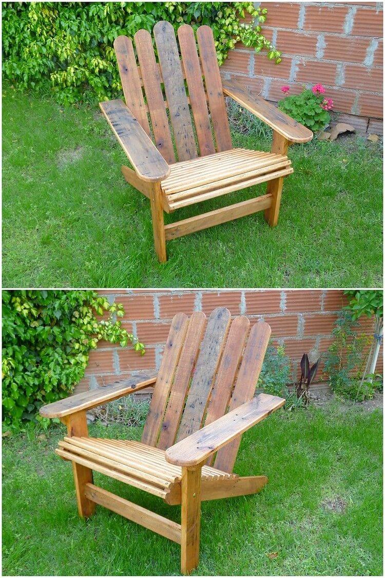 Pallet Garden Adirondack Chair
