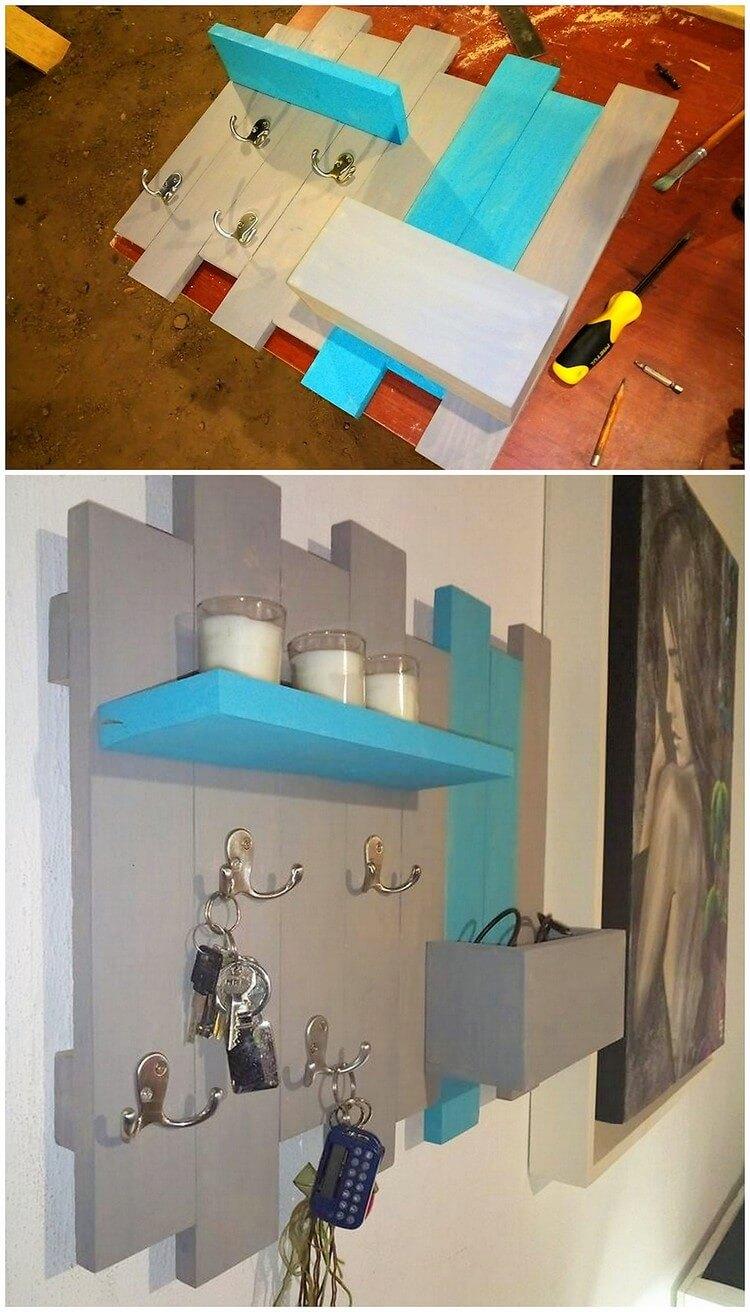 Pallet Key Rack and Shelf