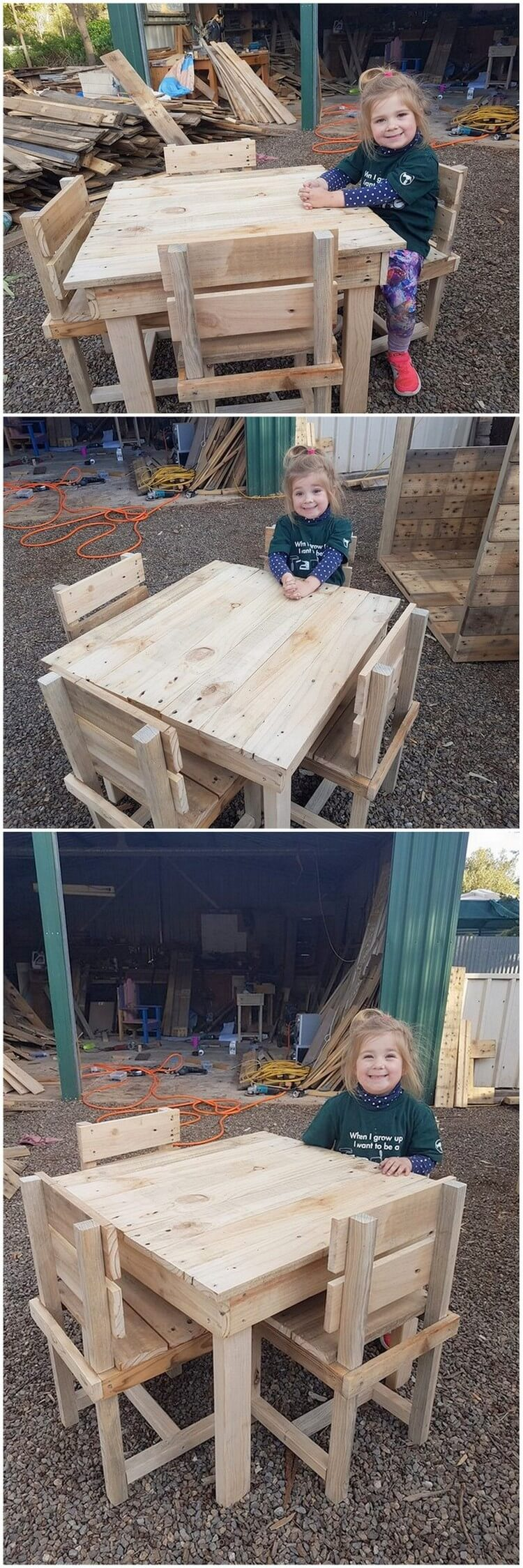 Pallet Kids Furniture Set