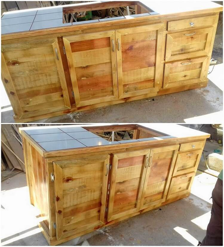 Kitchen Set Pallet: Awesome DIY Wooden Pallet Ideas That Can Improve Your Home