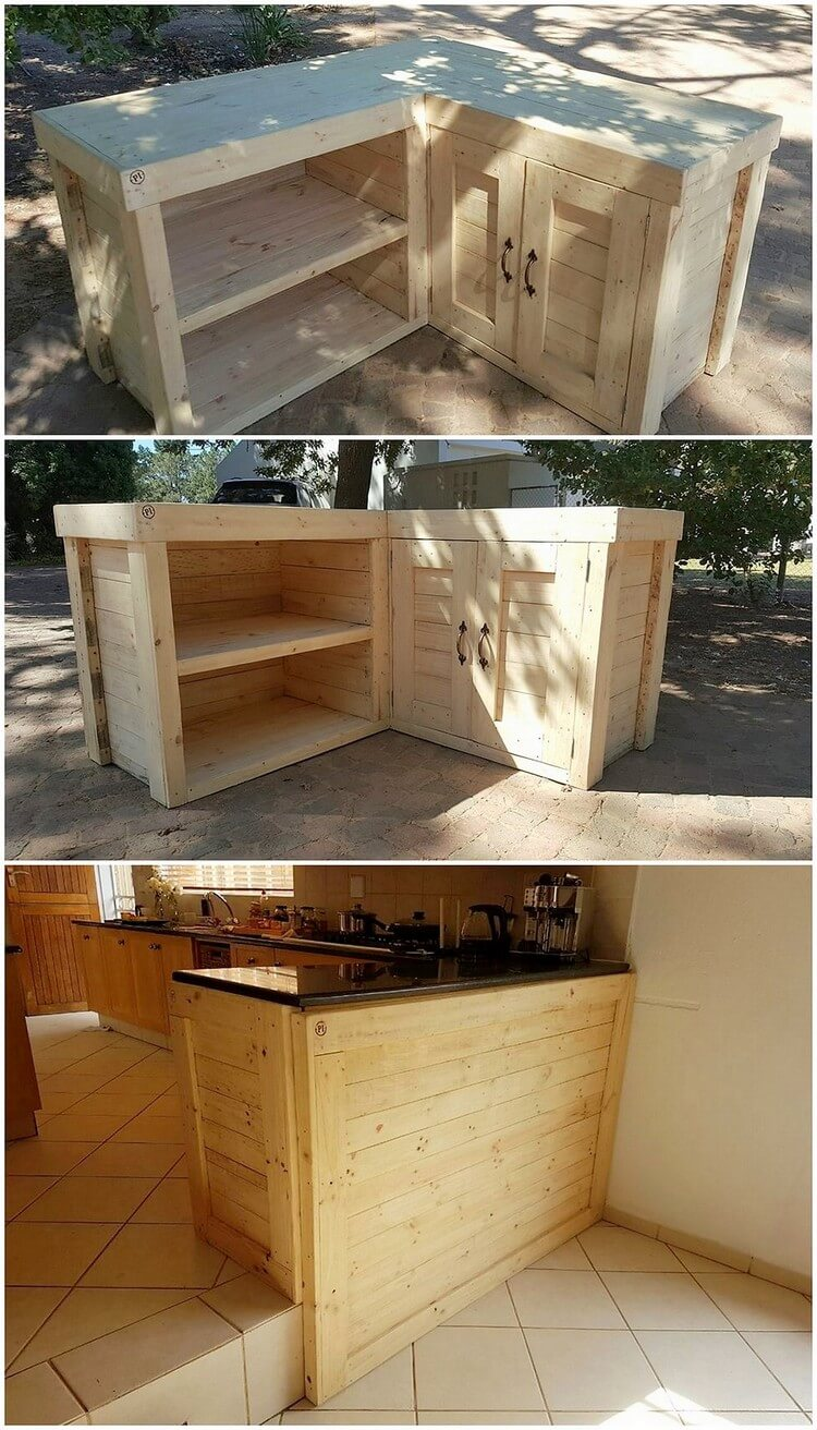 Pallet Kitchen Island Table